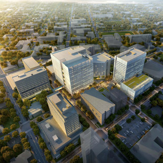Swedish Medical Center First Hill Campus aerial view