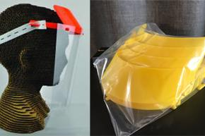 PPE face shield parts printed from 3D printer